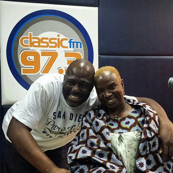Angelique Kidjo making radio appearances the day before