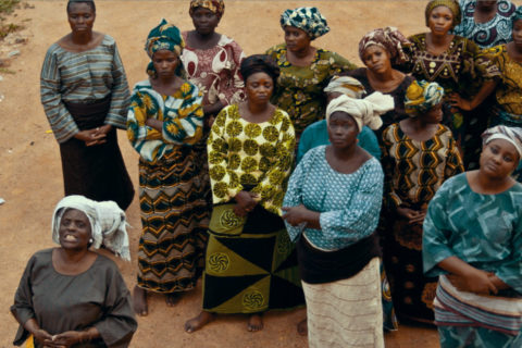 Egba women wait on Mrs Kuti at the outset of the women's riot3